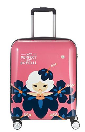 Valigia colorata Lil'Ledy: conchiglia morbida zaino a conchiglia rigida trolley borsetta per bambini in look Kawaii