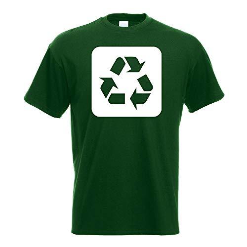 Kiwistar Recycling Entsorgung Piktogramme T-Shirt in 15 Verschiedenen Farben - Herren Funshirt Bedruckt Design Sprüche Spruch Motive Oberteil Baumwolle Print Größe S M L XL XXL
