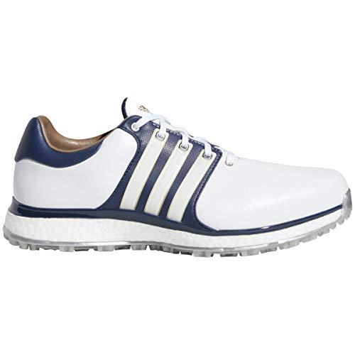 adidas Herren Tour360 Xt-sl(Wide) Golfschuhe, Weiß (Blanco/Navy F34991), 42 EU