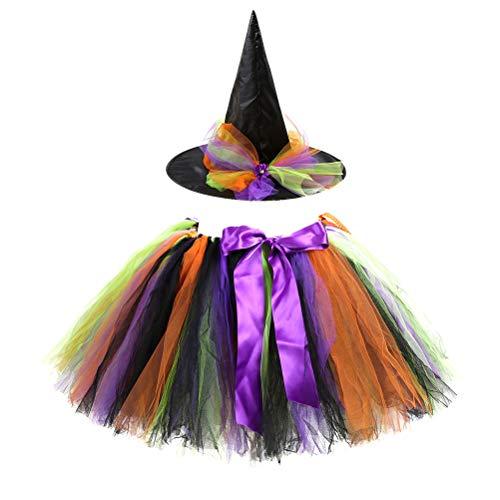 Mädchen Halloween Hexe Tutu Rock Cosplay Kostüme Rock Mit Hut für Geburtstagsfeier Festival -
