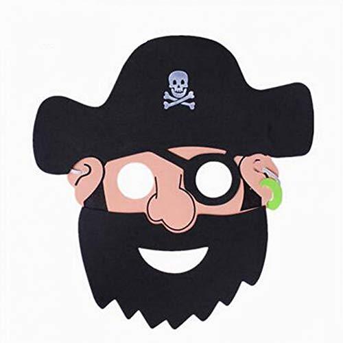 RCFRGV Halloween Maske Halloween Maske Piraten Maske Party Katze Horror Piraten Cartoon Piraten Stück Kinder Unisex Spielzeug Geschenk (Cartoon Zeichen Kostüm Für Partys)