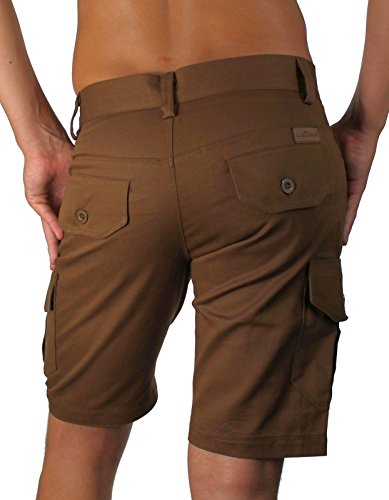 Listland Herren Cargo-Shorts kurze Hose Braun