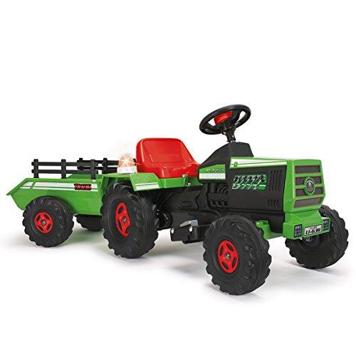 Imagen principal de INJUSA - Tractor Basic con remolque con luces y sonidos para niños a partir de 1 año, batería 6V, verde (636)