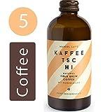 Kaffeetschi Mandel Latte Bio Cold Brew Coffee - Natürlicher Kaffee Energy Drink Ohne Zucker mit Mandelmilch - Vegan, Glutenfrei, Koffeinhaltig - 5x300ml