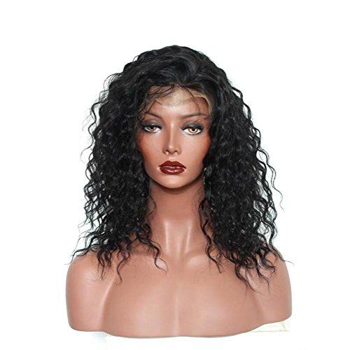 OOARGE Lace Front Perücken für schwarze Frauen Schulter Länge Afro Kinky Curly Perücken Hitzebeständige Faser , black