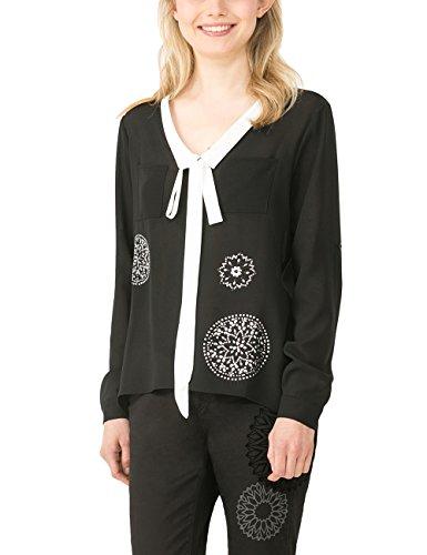 Desigual Elian, Camicia Donna, Nero (Negro), 36 cm (Taglia Produttore: M)