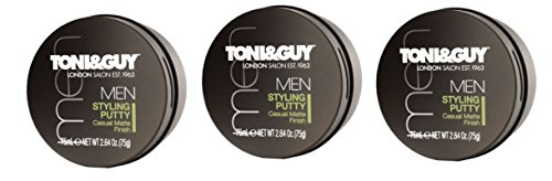 TONI & GUY Hommes Stylisation Putty 75ml - Paquet de 3