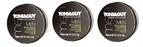 TONI & GUY Hommes Stylisation Putty 75ml - Paquet de 3