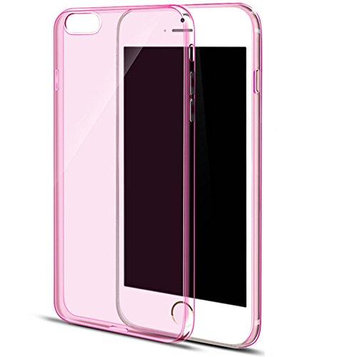 JAEDEN iPhone 6/6S Plus Case (5,5 pollici) Case Case trasparente sottile della copertura ultra protettiva morbida in silicone per iPhone 6/6S Plus rosa