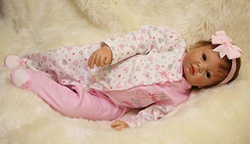 HOOMAI 22inch 55cm muñecas Reborn de Silicona Real niña Bebe Girls Baby Doll Ojos Abiertos magnetismo Juguetes