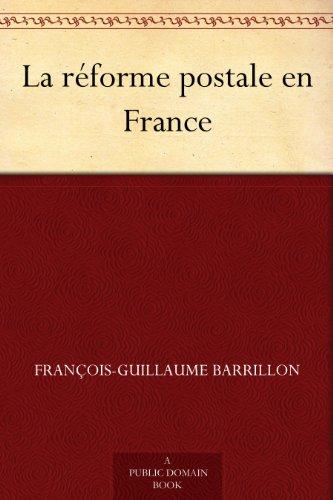 Couverture du livre La réforme postale en France
