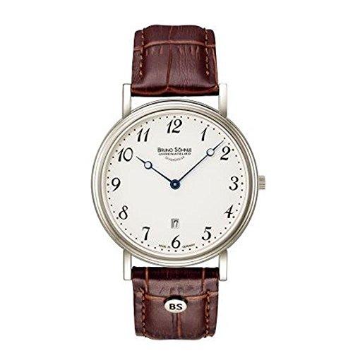 Bruno Söhnle Herren Analog Quarz Uhr mit Leder Armband 17-13109-920