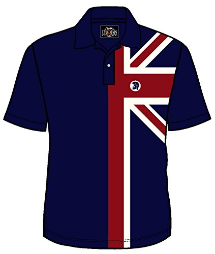 Mens Trojan Records Retro Mod Polo Shirt Navy
