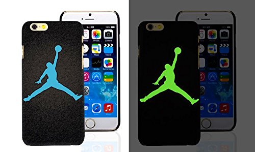 RONNEY'S Air Jordan Luminous PC BLACK Hard Case for Apple Iphone 6/6S DESIGN 3 Design 13
