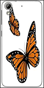 Snoogg Monarch Butterfly Designer Protective Back Case Cover For HTC Desire 626