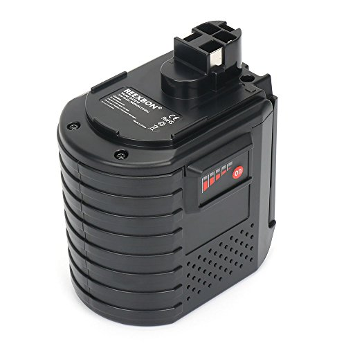 REEXBON Bateria Bosch 24V Con LED-Indicación, 3.0Ah Profesional NI-MH Batería de Repuesto para Bosch BAT019 BAT020 BAT021 2607335082 2607335083 2607335097 2607335098 260335163 2607335190