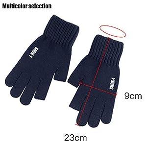 Im Freien Handschuhe, Winter Herbst Fingerlos Handschuhe, Verdicken Wolle Warm halten Fahrt, Männer Frau Bequem Weich, rutschfest Mehrfarbig Handschuhe