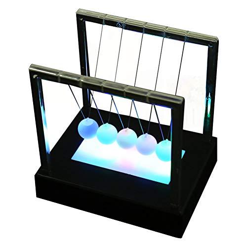 Pendule Newton lumineux à piles pour décoration de berceau Newton
