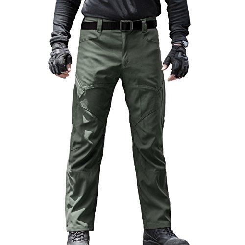 Arbeit Cargo Hose – Herren Tactical Outdoor Leicht Wasserabweisend Elastische Taille Multi Taschen Combat Pants (Grün 40) (Boys Navy Passt Blue)
