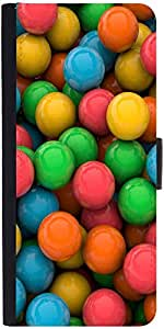 Snoogg Colorful 3D Balls Graphic Snap On Hard Back Leather + Pc Flip Cover Sa...