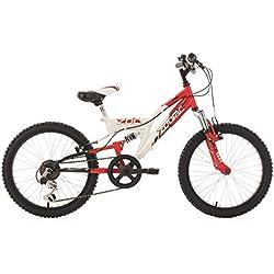 """KS Cycling Zodiac Vélo VTT Enfant 20"""" Rouge 31 cm"""