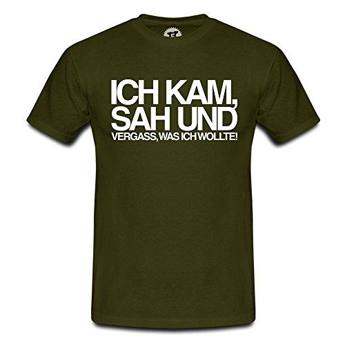 FABTEE - Ich kam sah und vergass was ich wollte - Herren T-Shirt - verschiedene Farben - Größen S-4XL Oliv