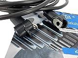 eXODA Batteriekabel mit Polschutzkappen und Ösen Set 10 mm² 300cm Kupfer M6 schwarz