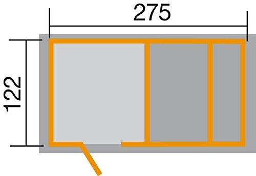 Tabaluga Spielplatz, natur, 21 mm, bestehend aus Drachenhöhle, Sandkasten, Pergola und Schatztruhe mit Deckel