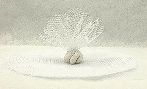 Tulle Dragees - 10 RONDS TULLE FILET -
