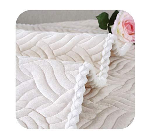 �ck Plüsch-Sofa-Abdeckung Handtuch europäischen Stil weichen rutschfest Sofa Slipcover Sitz Couch-Abdeckung für Wohnzimmer, Creme Weiß 1Pcs, 70x70cm 1Pcs ()