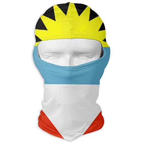 Wfispiy Antigua und Barbuda Flagge Sturmhaube Wolken Vollmasken Ski Headcover Motorrad Mode Maske Unisex