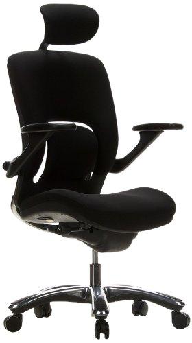 hjh OFFICE 652000 High End Bürostuhl VAPOR LUX Stoff Schwarz Ergonomischer Drehstuhl mit flexibler Lendenwirbelstütze