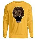 Hochwertiger Unisex Pullover - Gorilla On Rampage - Affe Primat Zoo Alphatier Wut Safari Zootier Silberrücken Krafttier