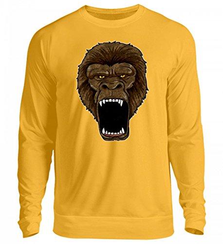 Hochwertiger Unisex Pullover - Gorilla On Rampage - -