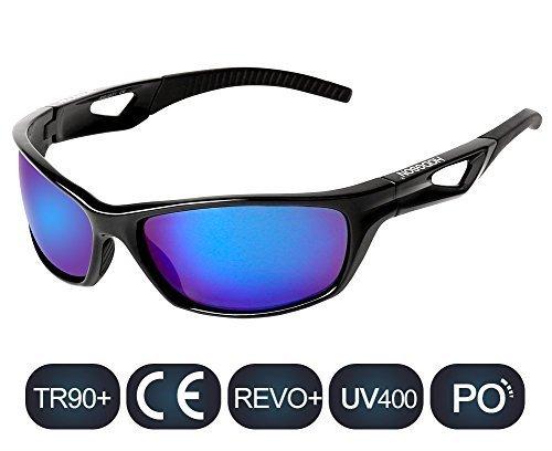 HODGSON Fahrradbrille Sport Sonnenbrille für Herren und Damen Polarisierte, UV400 Schutz Unzerbrechliche Sportbrille für Reiten Fahren Angeln Laufen Golf und Andere Outdoor Sport