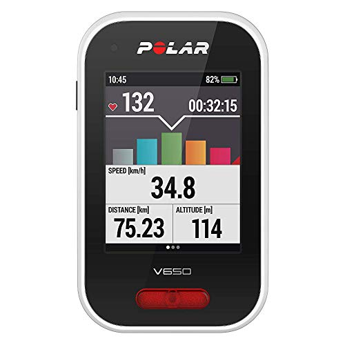Polar V650 HR - Ciclocomputador para bicicleta con GPS y trasmisor de...