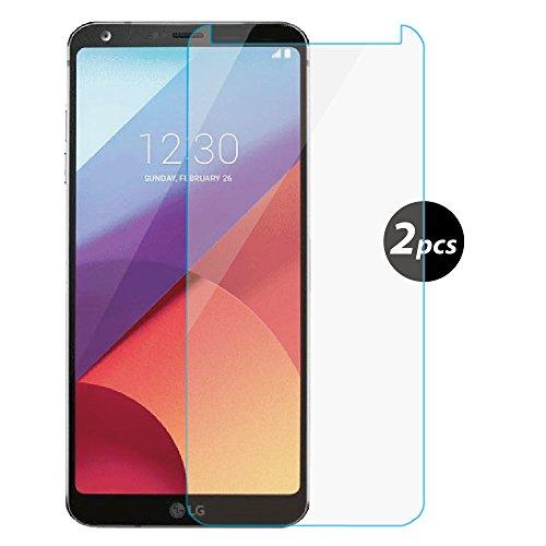 Preisvergleich Produktbild [2 Stück]LG G6 Panzerglas Schutzfolie, EUGO 9H Hartglas Schutzfolie Displayschutz für LG G6 - Transparent