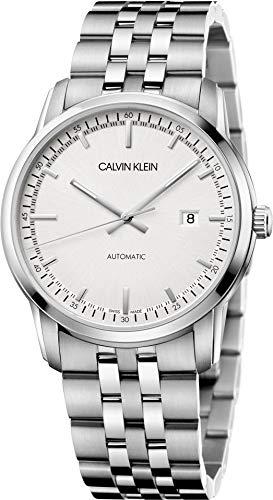Calvin Klein Reloj Analógico para Hombre de Automático con Correa en Acero Inoxidable K5S3414X