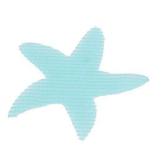 Deal Mux étoile de mer en forme de Design de feuille de Franse de cheveux de dames autocollant en plastique bleu
