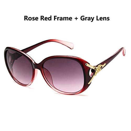 CCGKWW Oval Frame Sonnenbrille Frauen Elegante Brille Mode Sonnenbrille Weibliche Shades Eyewear Fox Dekoration