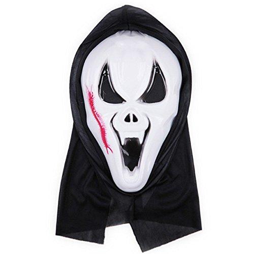 PromMask Masken Gesichtsmaske Gesichtsschutz Domino falsche Front Halloween Aprilscherz-Tagesmake-up Make-upball Maske E