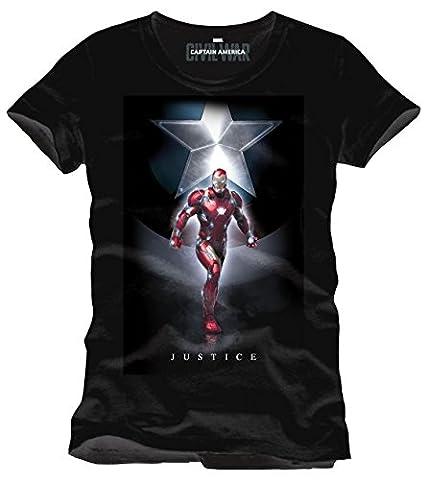 Iron Man Captain America Civil War - Justice T-Shirt schwarz M