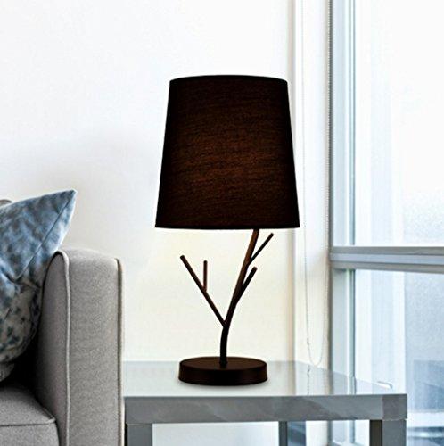 Schmiedeeisen Beistelltisch (GJ- Einfache moderne Lampe Schlafzimmer Schlafzimmer Nachttisch Wohnzimmer Schmiedeeisen Tuch Nordic Hotel Creative Fashion Lampe)