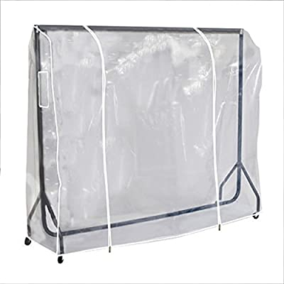 Hangerworld 6 ft Single Transparent Clothes Rail Cover with Strong Double Zips and Document Pocket - cheap UK wordrobe store.