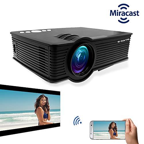 "EGATE i9 MIRACAST LED HD PROJECTOR - HD 1920 X 1080 - HDMI - USB - VGA - 120"" DISPLAY"