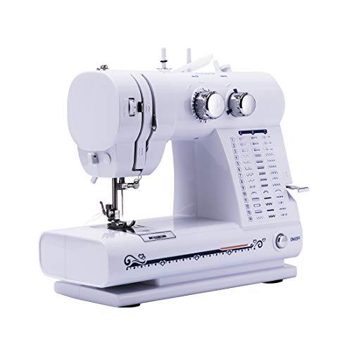GWELL Mini Nähmaschine 42 Nähprogramme Mini Sewing Machine mit Fußpedal LED Nählicht Elektrische Kleine Haushaltsgeräte für DIY Zuhause