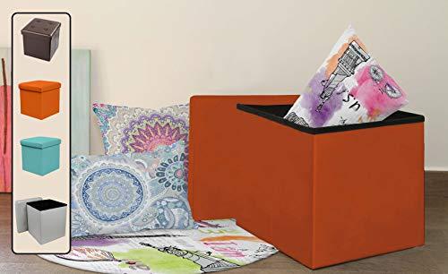 Stilia - Taburete / Cajas Puffs Plegables para guardar Cojines y Senta