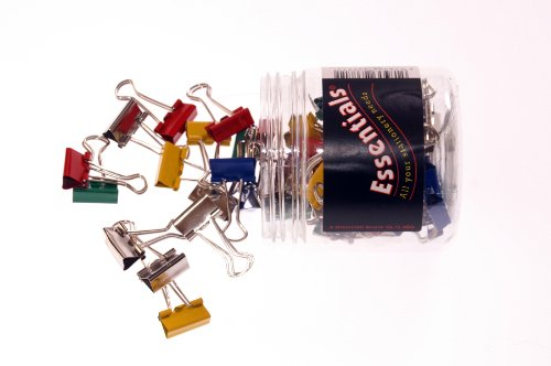Whitecroft Essentials Tubs 19mm Fold Back Clips - Assorted Colours (Pack of 50) Test