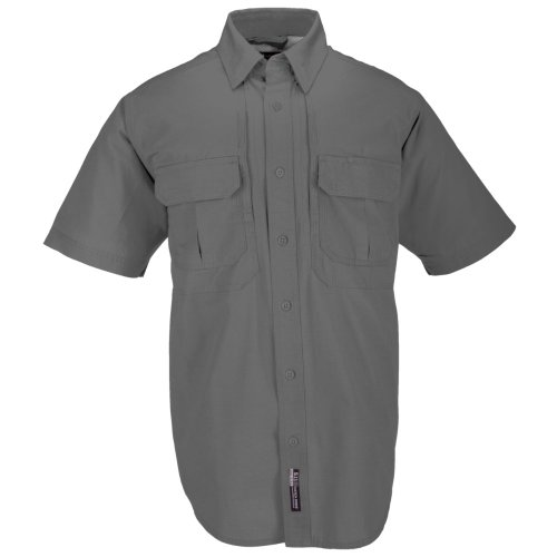 5.11 Herren Tactical # 71152 Baumwolle Tactical Short Sleeve Shirt, Herren, grau, xxl (Short Feuer T-shirt Sleeve)