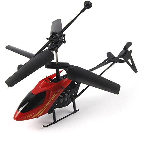zolimx 901 RC 2CH Mini helicóptero Radio Control remoto aviones (rojo)